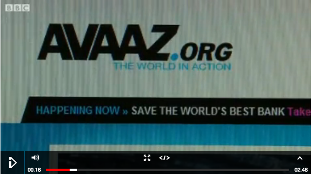 Avaaz online political campaigns targeting MPs